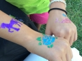 Lots of glitter tattoos!