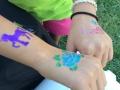 Lots of glitter tattoos!