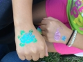 A couple of beautiful glitter tattoos!